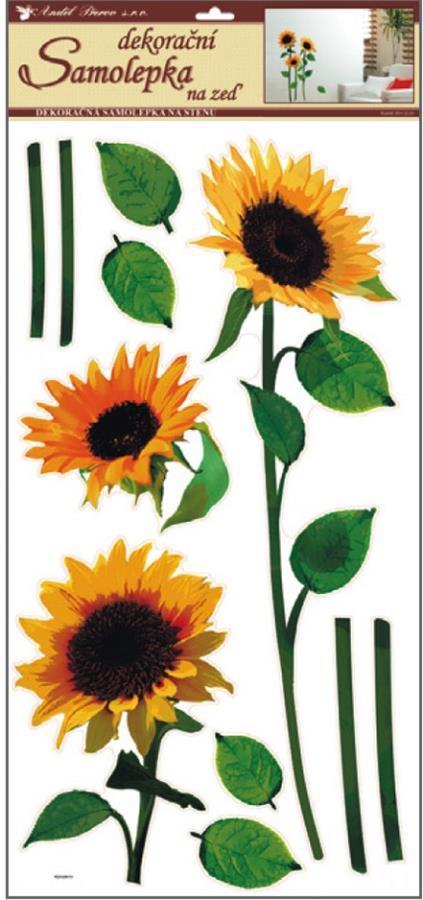 Samolepky na zeď tři slunečnice 10032, 69x32cm